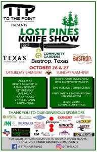 Lost Pines Knife Show Flyer