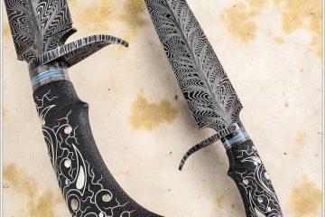 Damascus blade knife