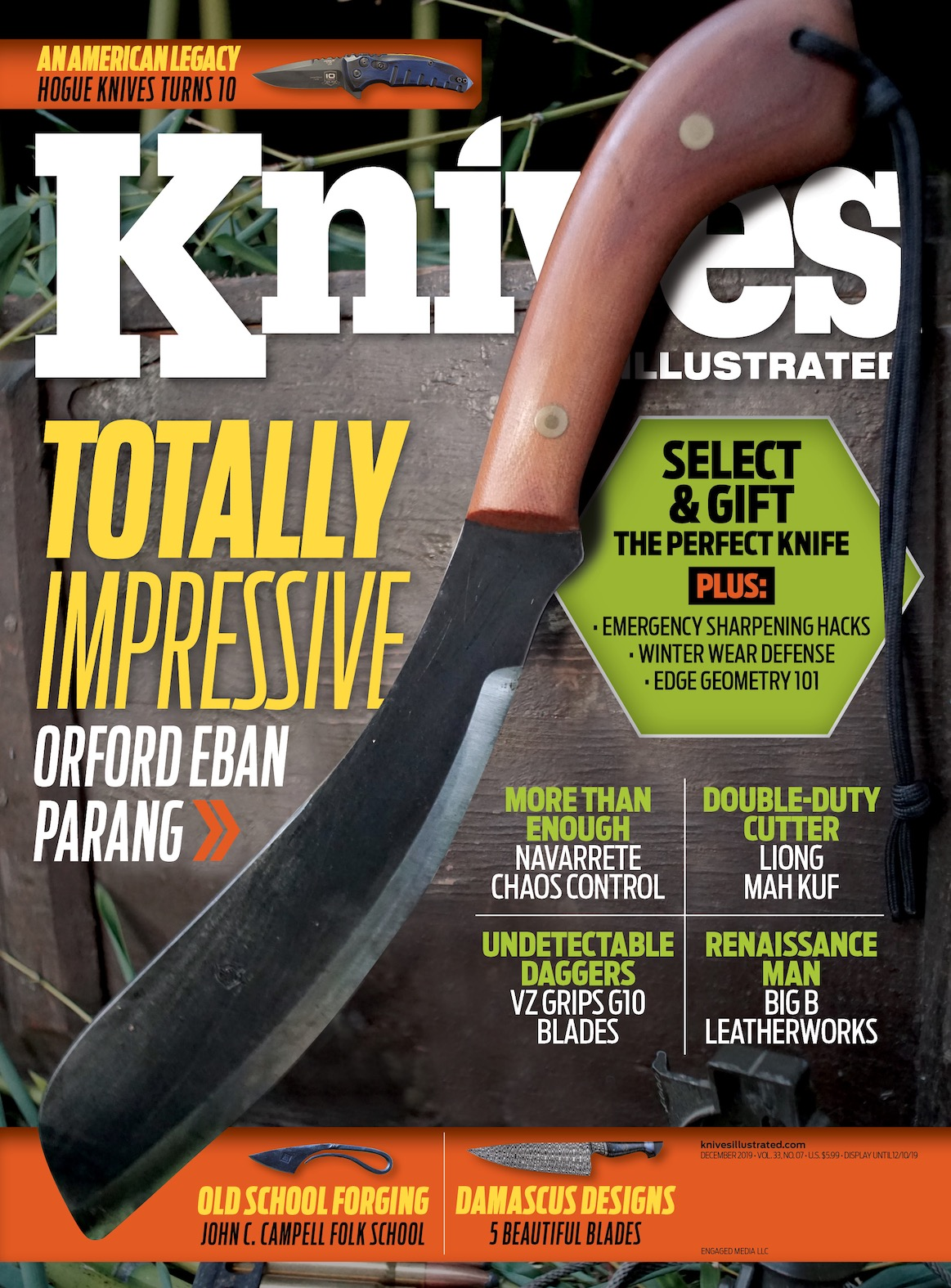Knives Illustrated December 2019 cover