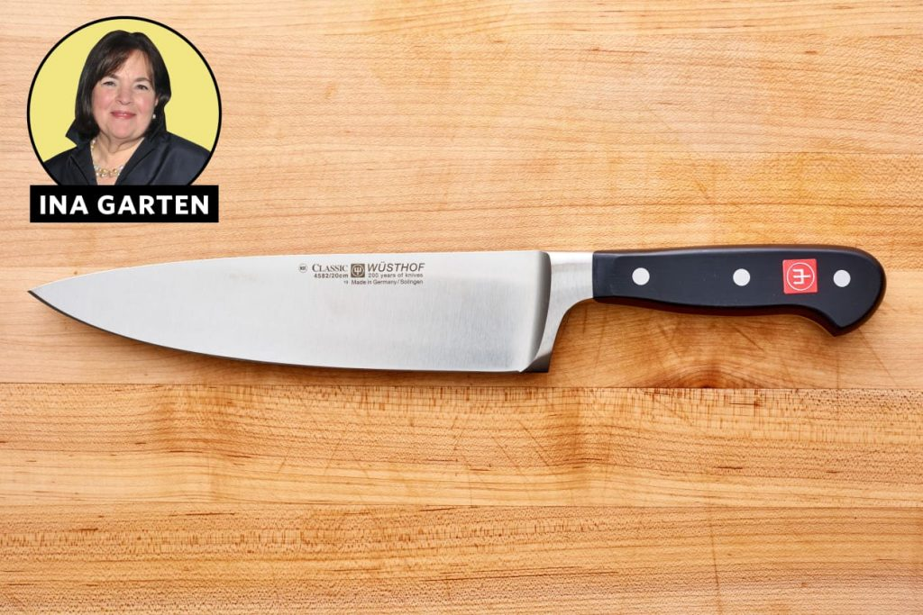Ina Garten and chef knife