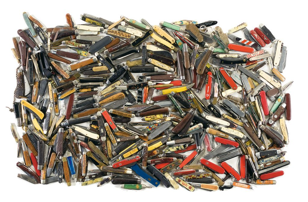 Pile of pocketknives