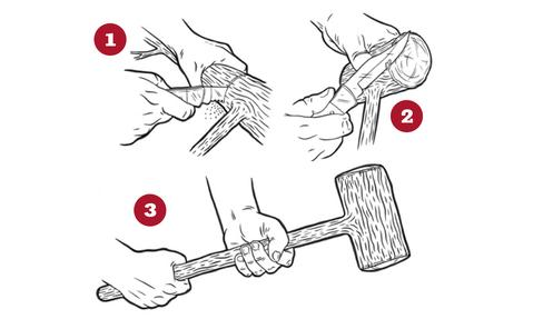 Wooden Mallet Instructions