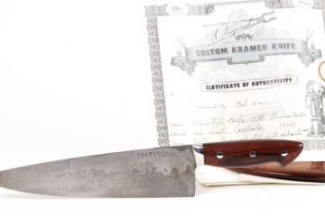 Anthony Bourdain's knife by Bob Kramer