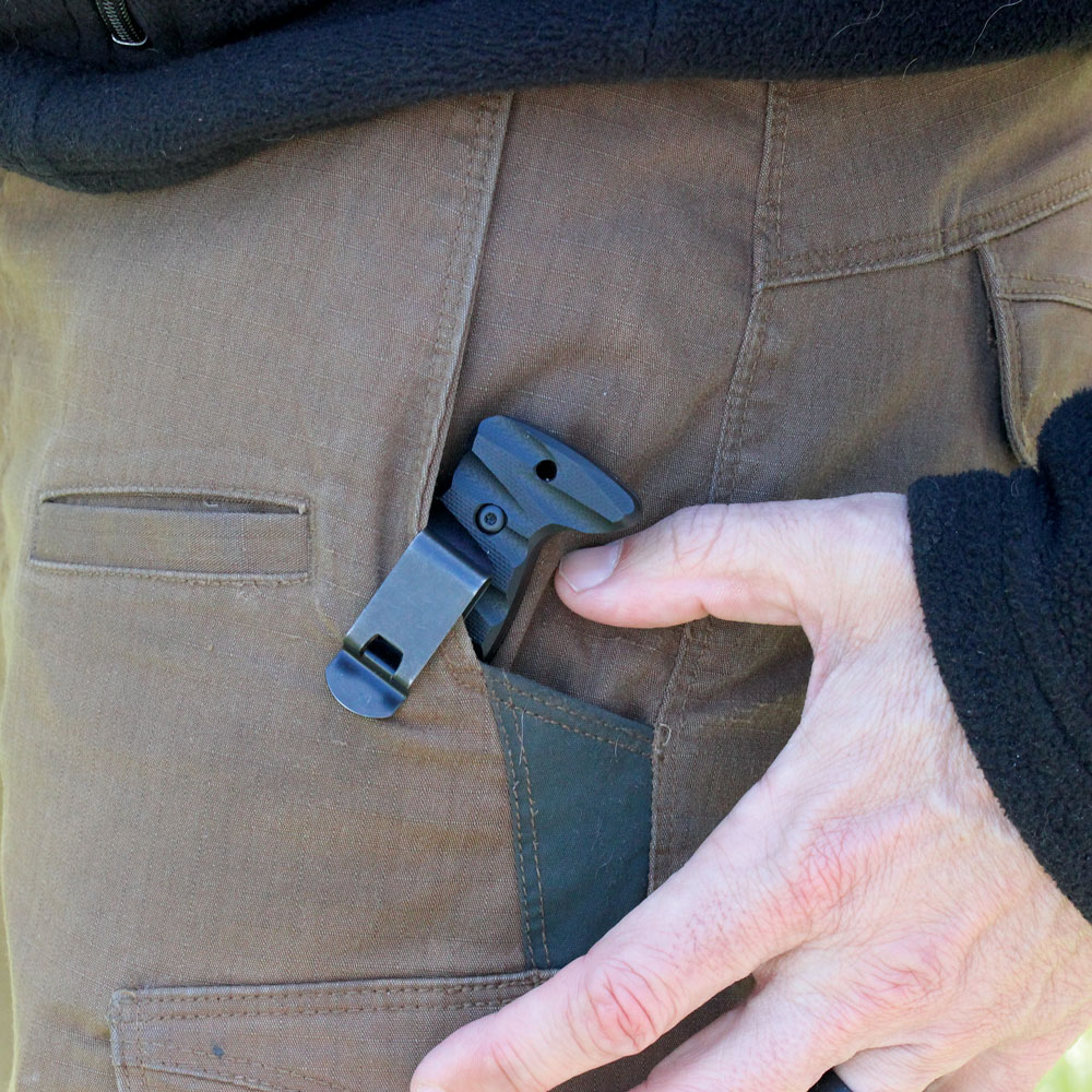 The Firesheath pocket- carry allows for quick and easy deployment