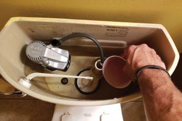 toilet tank water