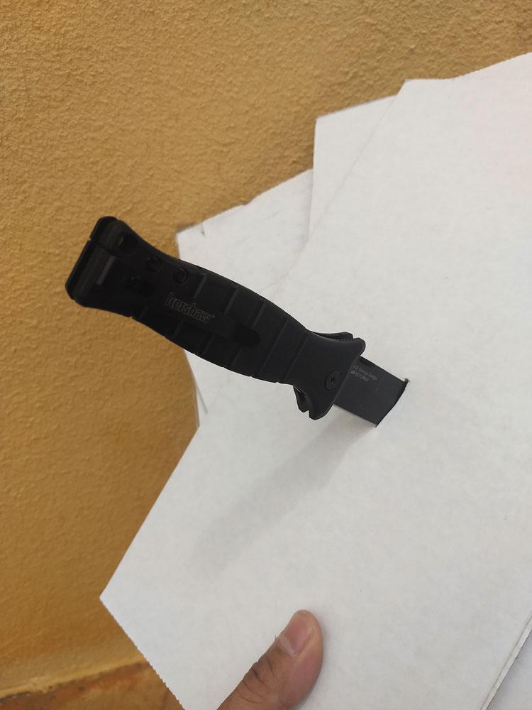 XCOM puncturing cardboard