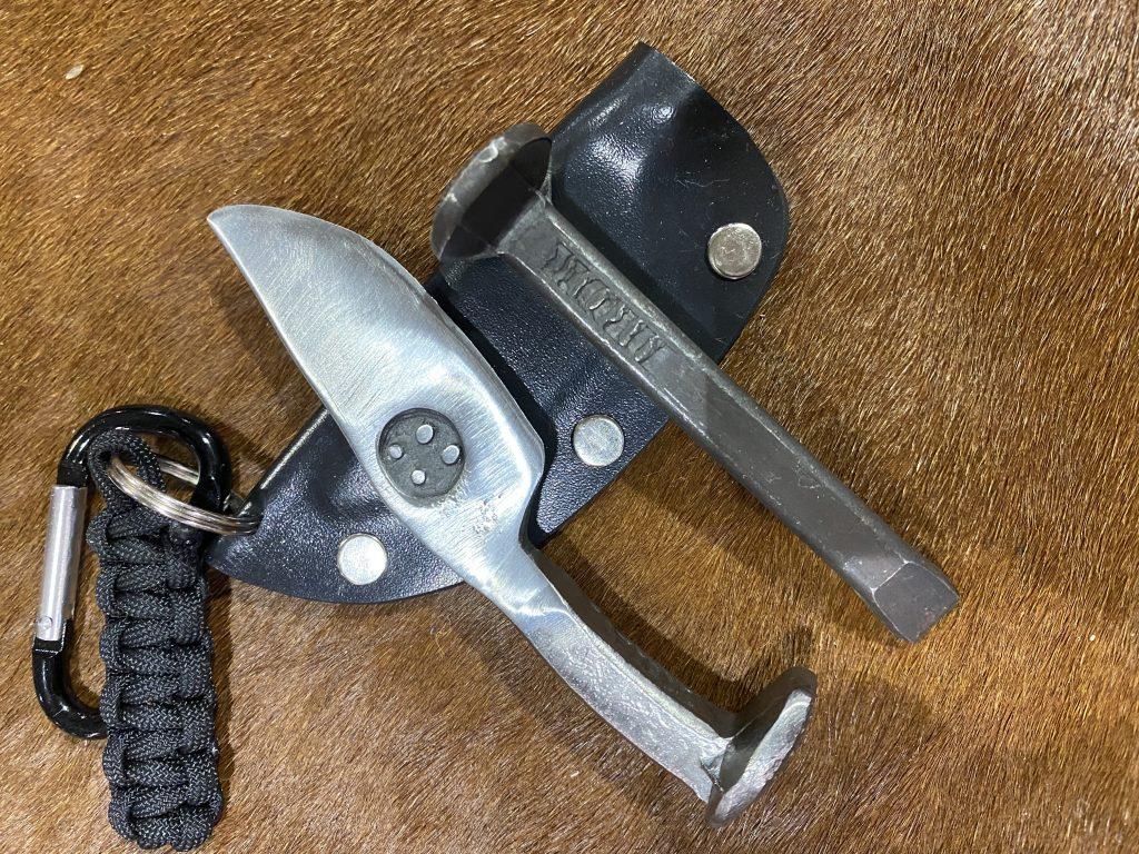 railroad spike keychain knife