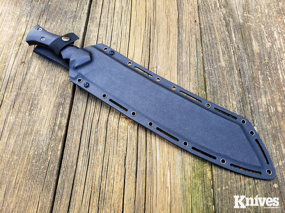 The Chop House comes with a MOLLE compatible Kydex sheath