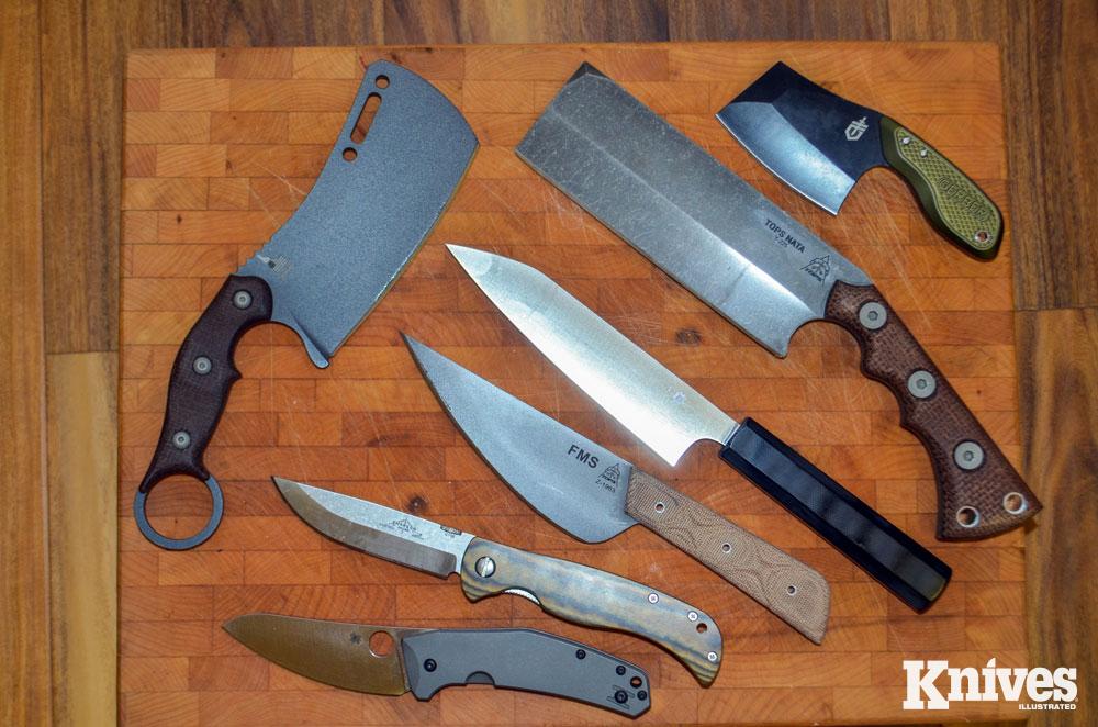 Many kitchen knives