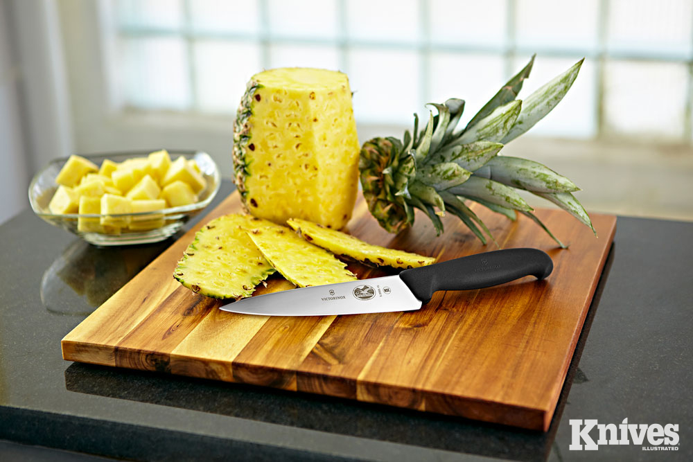 The Victorinox Fibrox series of kitchen knives