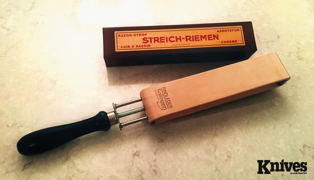 The Herold Solingen Russian Leather razor strop