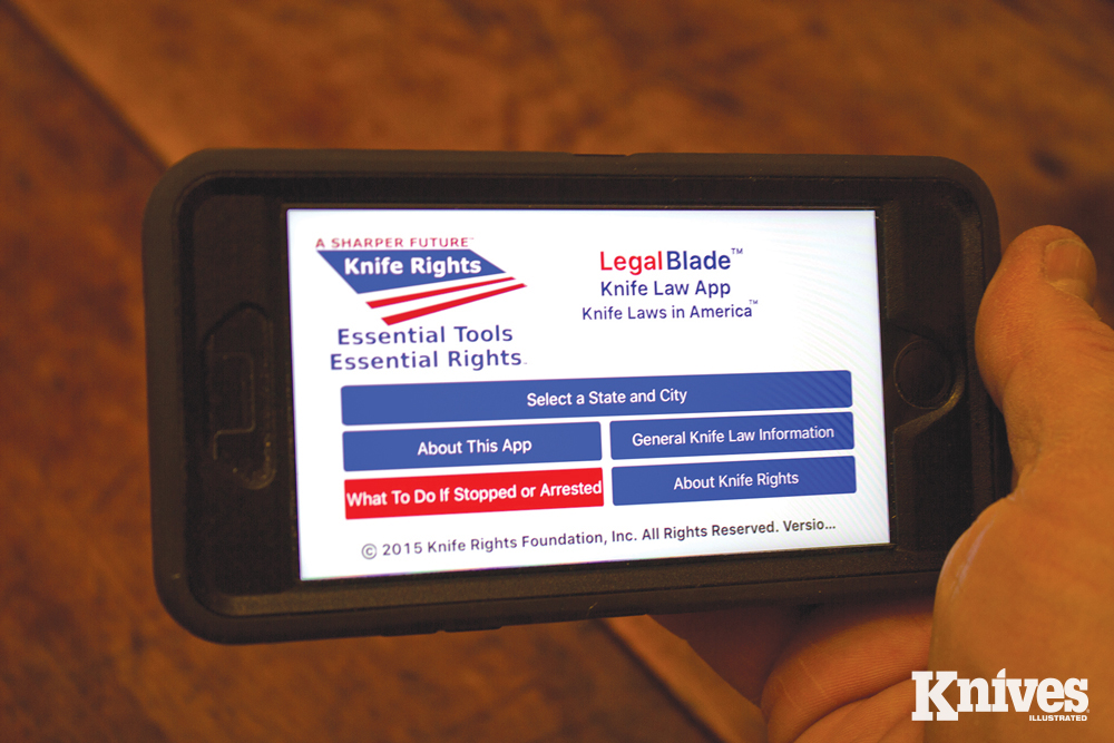 Knife Rights' Smartphone app Legal Blade