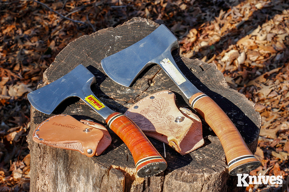 : Old reliables. For price and performance, it's hard to beat the Estwing Sportsman's Axe, available in two sizes. These will take a lifetime of hard use.