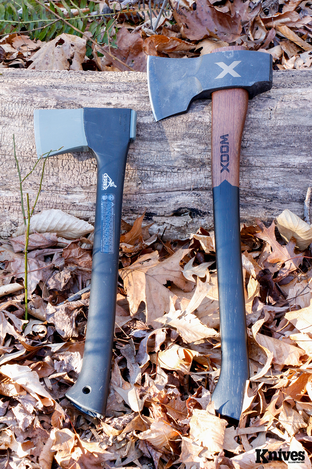 Here's a size comparison of the Woox Forte to the author's old Gerber Camp Axe.