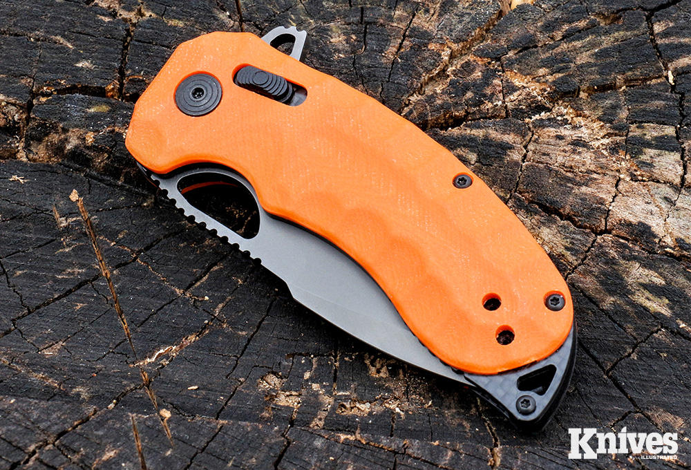 Closed, the SOG Kiku XR LTE measures 4.29 inches.