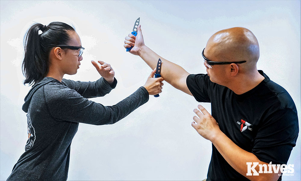 Patrick Vuong (right), one of the lead instructors at Tiga Tactics, brings a common-sense, realworld approach to the subject of self-defense.