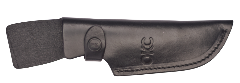 The new Ontario RAT TAK 2 comes with a black leather belt sheath.