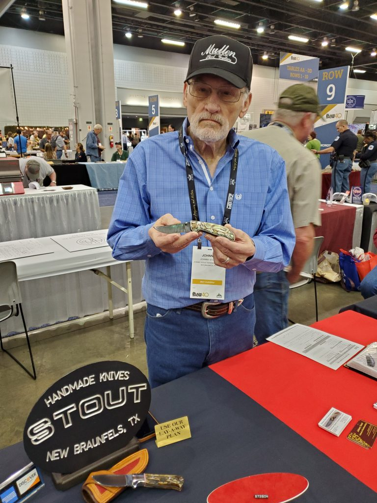 Johnny Stout was one of the knifemaking legends on hand at this year's show.