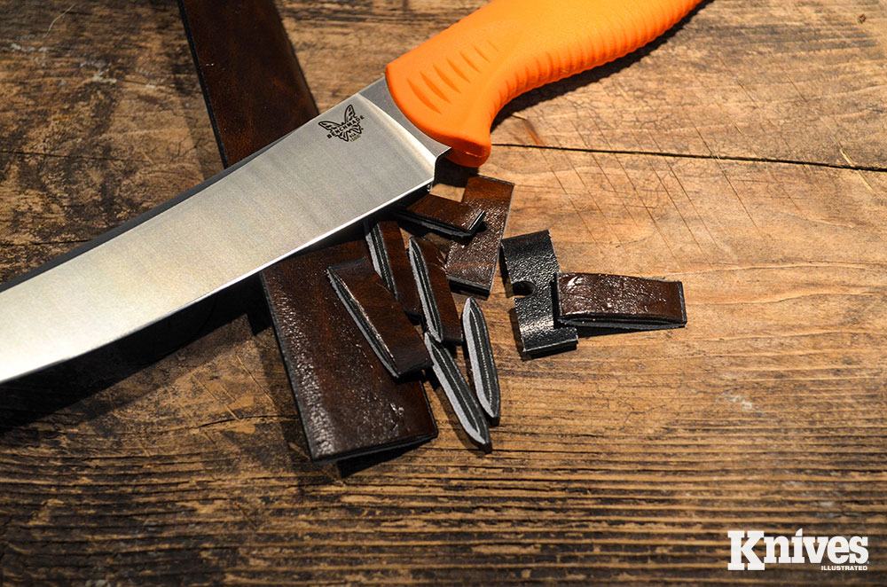 From slicing to push cuts, the Meatcrafter made short work of a thick leather belt.