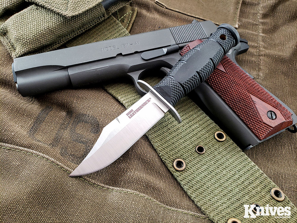 The Mini Leathernecks all have 3.5-inch blades of 8Cr13MoV stainless steel.