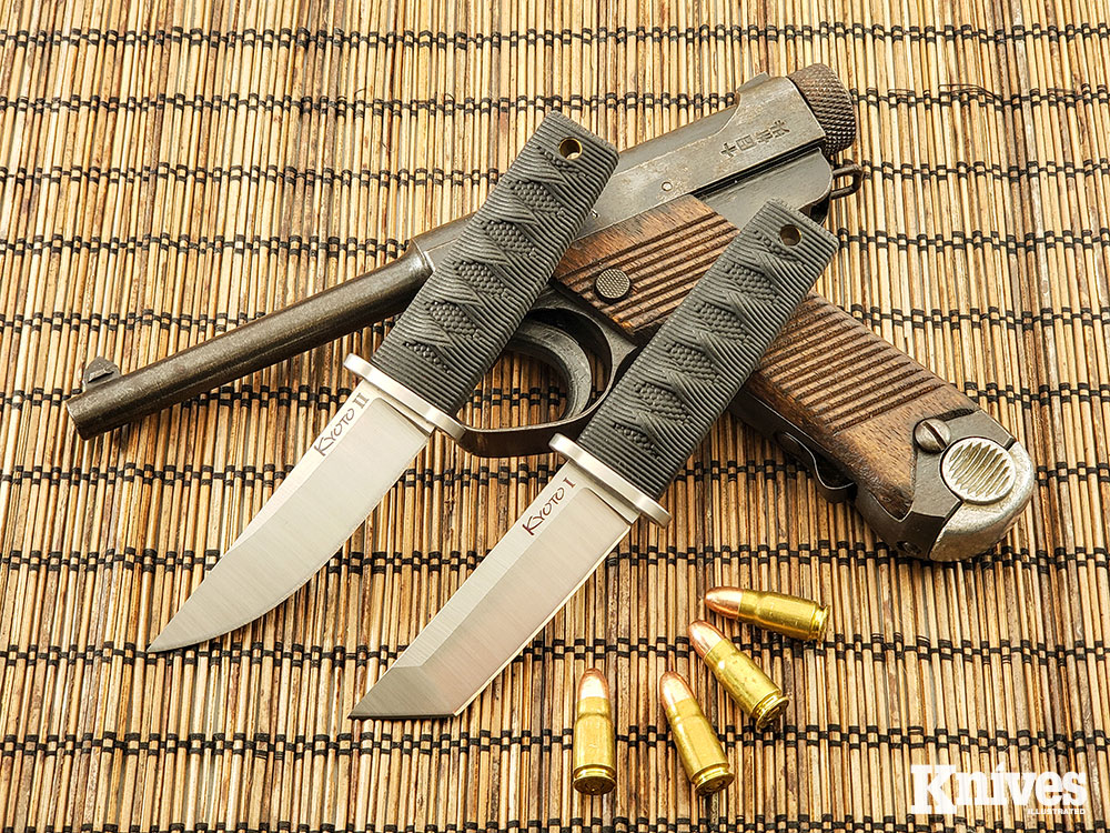 If you prefer an Asian flair to your EDC fixed blade, Cold Steel's Kyoto I and II in the Mini Japanese series are both aesthetically pleasing and extremely functional choices.