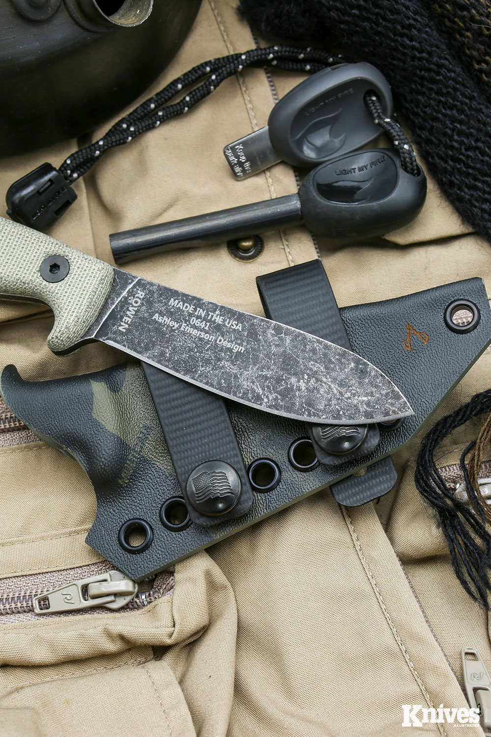 ESEE Knives has teamed up with Armatus Carry (Architect sheath model pictured)