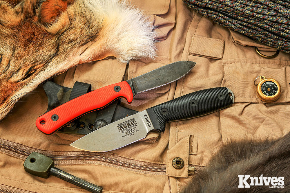 Ashley Game Knife (top) and a revamped ESEE-3 with S35VN steel (bottom)