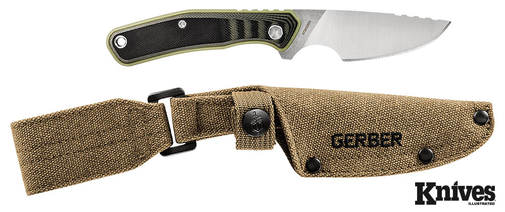 The author believes the Downwind Drop Point is probably near the upper limit in size of what he'd use for field-dressing a deer, but that size also allows for this knife to have greater all-around utility in the woods. Gerber photo.