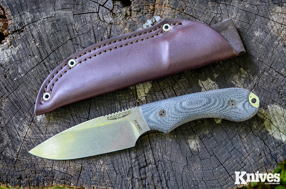 The Bradford Knives Guardian4 is a mid-sized knife in the company's Guardian lineup, and it would make a good choice for most field needs.