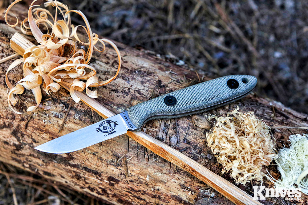 This small EDC/bushcrafter was an excellent fire preparation knife.