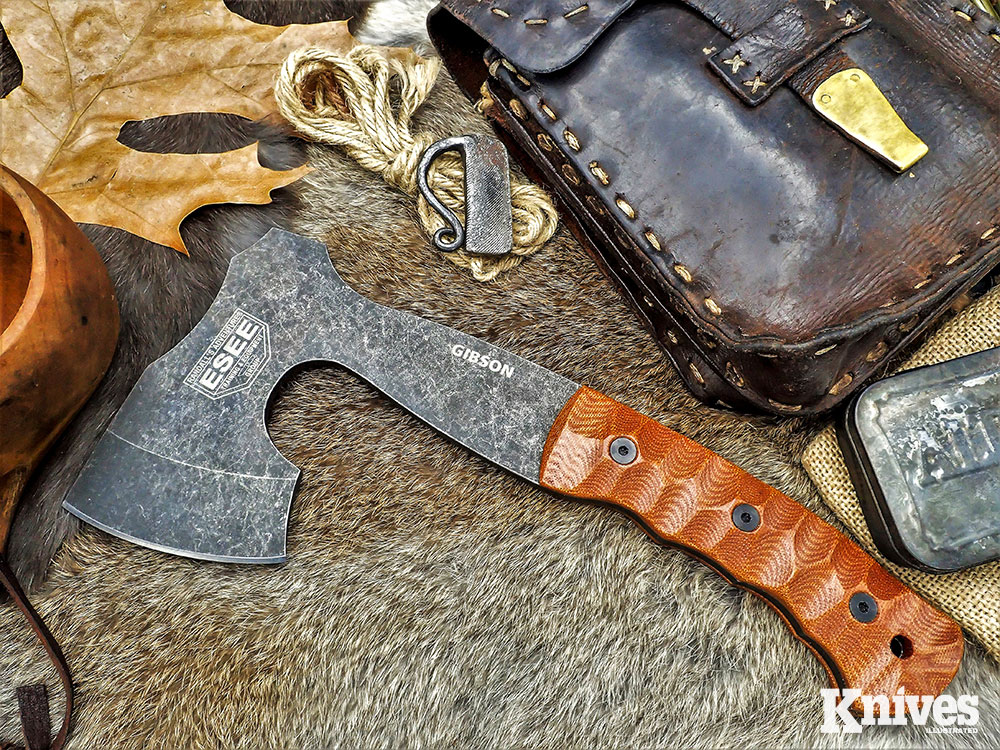 The ESEE Knives Gibson Carving Axe is one of four offerings James has collaborated on with ESEE Knives.