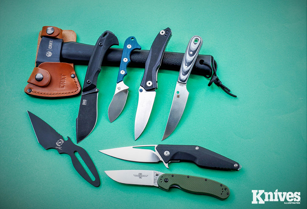 This assortment of knives came over several months from Gear Pack. Usually, a couple of cutting tools are included in each monthly Ultimate box.