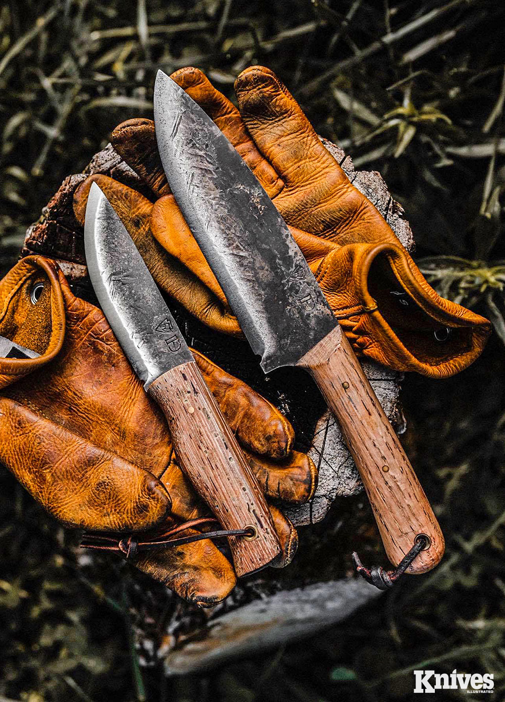 Jason Hunt designed two knives, the Raider (L) and the Colonel, and carries both of them regularly.
