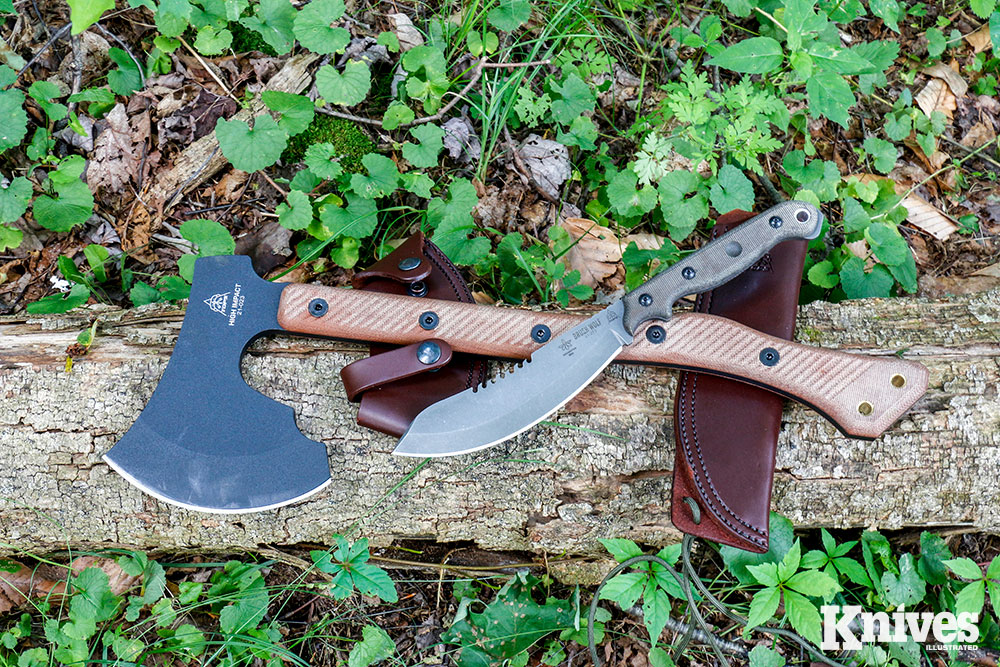 The TOPS High Impact axe and Brush Wolf knife are now high on the list of the author's favorites.