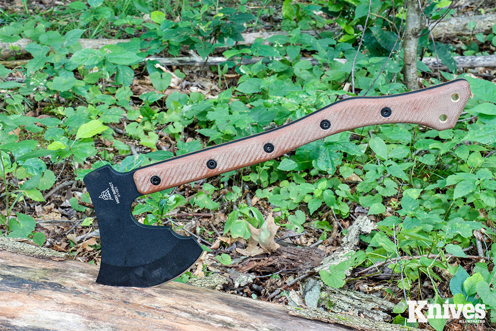 The TOPS High Impact is 20 inches long, giving you plenty of leverage for chopping.