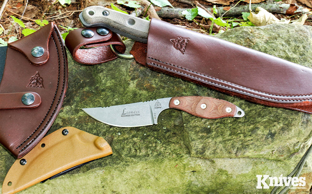 The TOPS Lioness is a pocket-sized fixed blade that the author frequently carries.