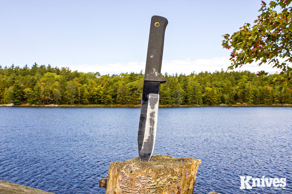 When you're on your own, a sturdy knife can be useful and comforting in many ways.