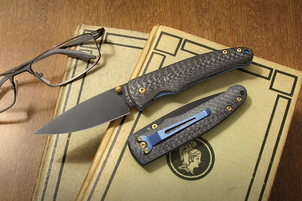 AG Russell knife with carbon fiber handle